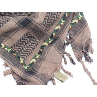 Sjaal heren bruin/zwart