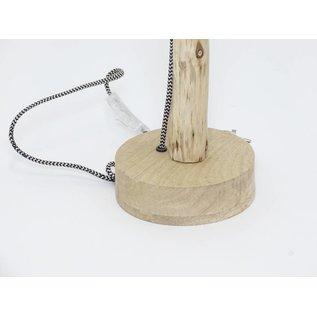 Lamp op houten voet