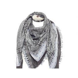 Sjaal zwart/grijs blue Indy