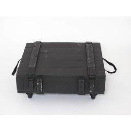Kist hout zwart/groen
