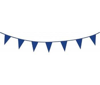 Blauwe vlaggetjes slinger