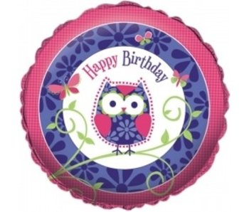 Metallic Ballon Owl