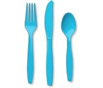 Bestek blauw afwasbaar