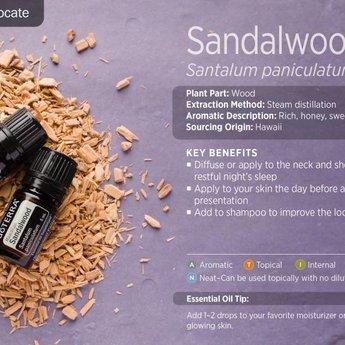 doTERRA Hawaiiaanse Sandalwood essentiële olie - enkelvoudige olie