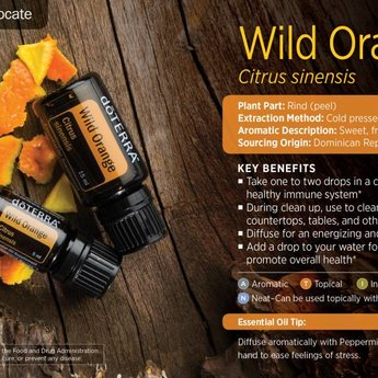 doTERRA Wild Orange Essential Oil 15 ml.