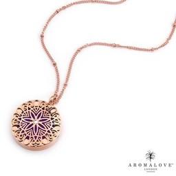 AromaLove Flowerburst aromadiffuser ketting (rose goud)