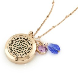 AromaLove Moroccan design aromadiffuser ketting (rose goud) met bedeltjes