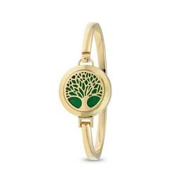 AromaLove Levensboom aromadiffuser armband (goud)