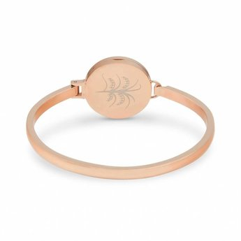 AromaLove Levensboom Aromadiffuser armband (rose goud)