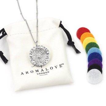 AromaLove Flowerburst aromadiffuser ketting (zilver)