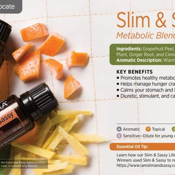 doTERRA Slim & Sassy Essential Oil blend - Metabolic Blend