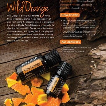 doTERRA Wild Orange Essentiële Olie 15 ml. - Sinaasappel