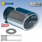 Spark Exhaust Technology Uitlaatsierstuk Sportline ovaal diameter 90mm