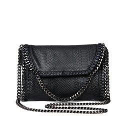 snake chain shoulderbag black