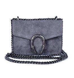 ECHT LEER Valerie shoulderbag - Gray