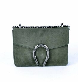 ECHT LEER Valerie shoulderbag - Army Green