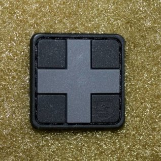 EMT Kruis markeringspatch klein zwart
