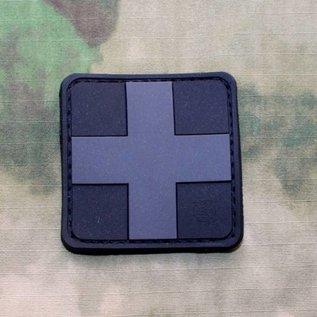 EMT Kruis markeringspatch groot zwart