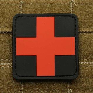 EMT Kruis markeringspatch groot zwart/rood