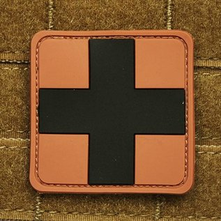 EMT Red cross marker patch large tan