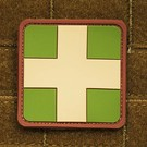 EMT Red cross marker patch large multicam