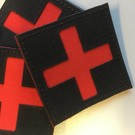 Apatch Kruis patch zwart rood