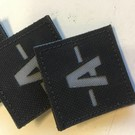 Apatch Blood type patch grey black A-