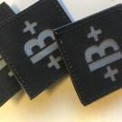 Apatch Bloedgroep patch grijs zwart B+
