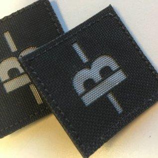 Apatch Bloedgroep patch grijs zwart B-
