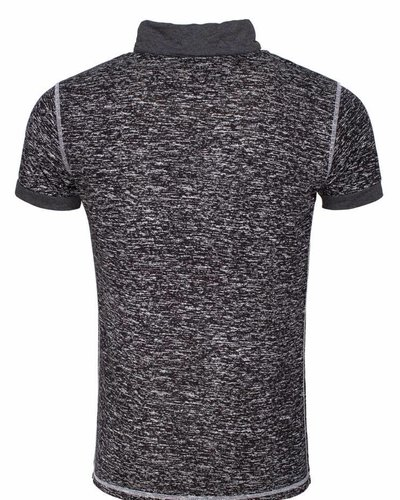 WAM Denim black t-shirt with shawl collar