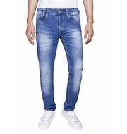 WAM Denim licht blauwe jeans met lichte wassing