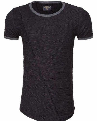 WAM Denim long fit t-shirt black