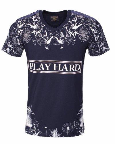 WAM Denim navy t-shirt with flower print