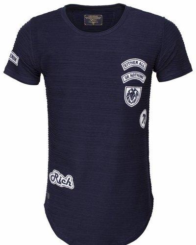 WAM Denim long fit t-shirt navy