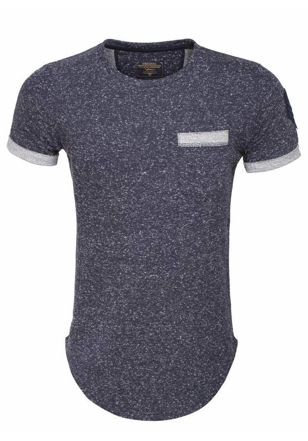 WAM Denim t-shirt navy with chest pocket