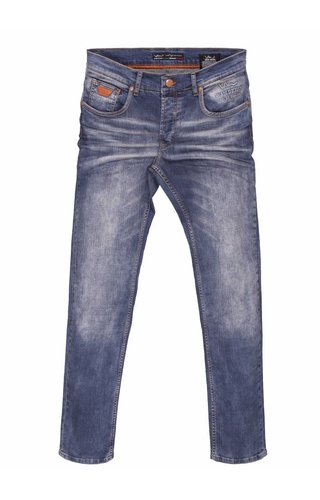 WAM Denim blue slim fit jeans with light washing