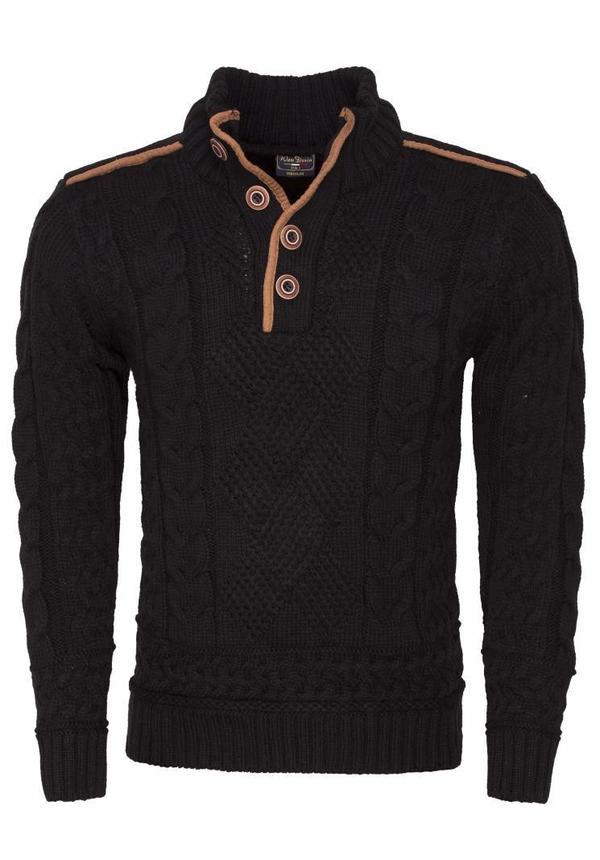 Wam Denim cable sweater black