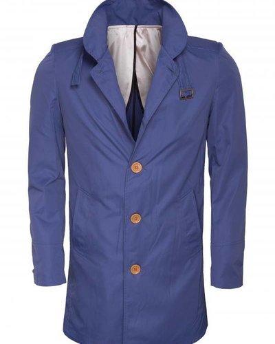 WAM Denim blue trenchcoat