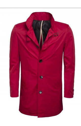 Wam Denim trenchcoat red