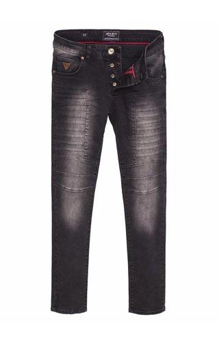 Arya Boy grey slim fit jeans with light washing