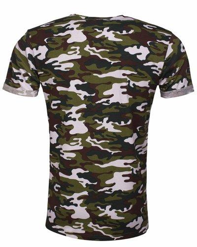 Arya Boy camo t-shirt white khaki