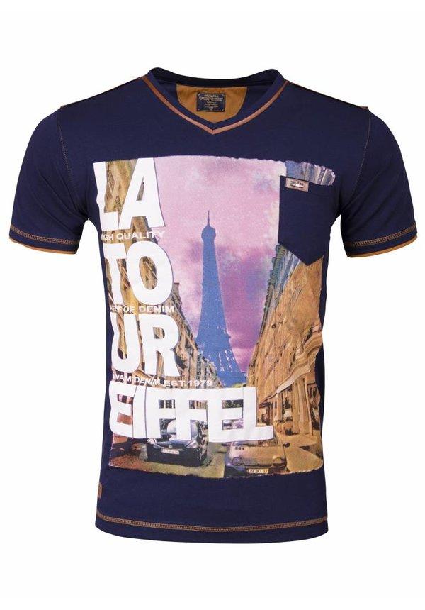 WAM Denim t-shirt with print navy 79207