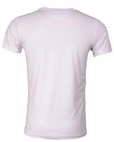 WAM Denim t-shirt white with Hawaii print