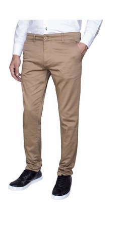 Wam Denim chino beige slim fit