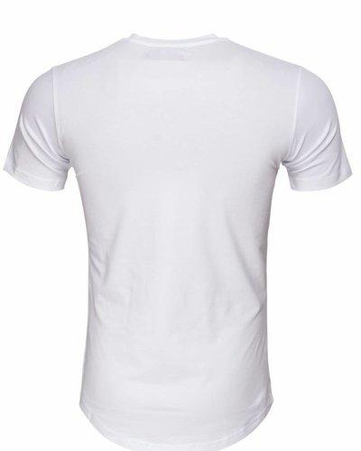 WAM Denim white long fit t-shirt with new york print