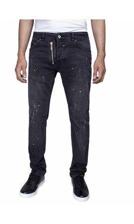 ARYA BOY Arya Boy slim fit jeans zwart
