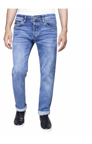 Wam Denim jeans donkerblauw slim fit
