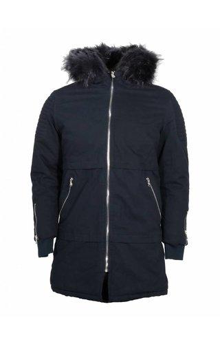 WAM Denim winterjacket blue black parka 88175539