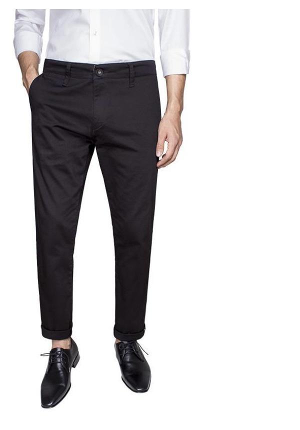 Gaznawi chino black regular fit
