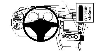 Brodit VW E-Golf Grundhalterung
